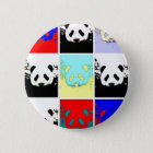Pop Art Panda 6 Cm Round Badge