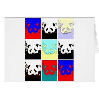 Pop Art Panda Greeting Card