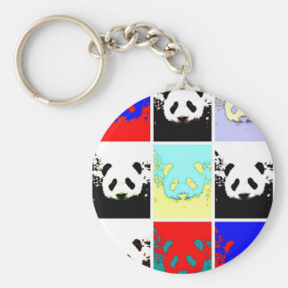 Pop Art Panda Keychains