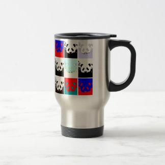 Pop Art Panda Travel Mug
