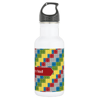 Pop Art Pattern Colorful Bricks for Boys 532 Ml Water Bottle