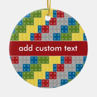 Pop Art Pattern Colorful Bricks for Boys Christmas Ornament