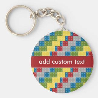 Pop Art Pattern Colorful Bricks for Boys Keychains