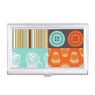 Pop-art pattern - sewing business card holder