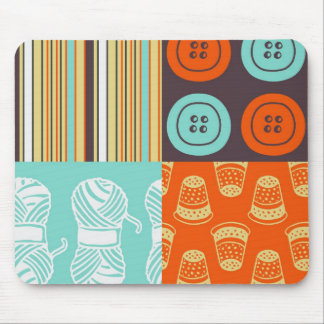Pop-art pattern - sewing mouse pad