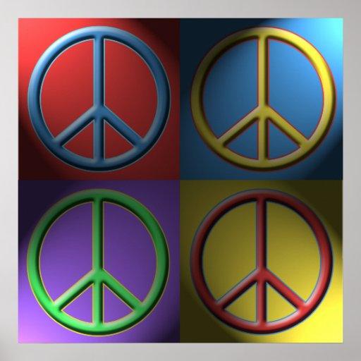 Pop Art Peace Sign Poster