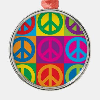 Pop Art Peace Symbols Christmas Ornament