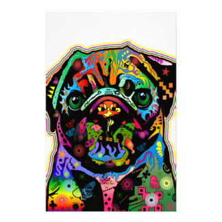 Pop Art Pet Pug Colorful Art Retro Customized Stationery
