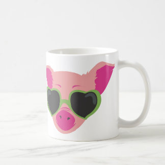 Pop art Piggy Basic White Mug