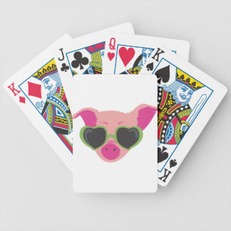 Pop art Piggy Bicycle Playing Cards