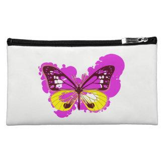 Pop Art Pink Butterfly Cosmetics Bag Makeup Bag