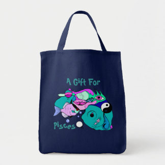 Pop Art Pisces Abstract Yin Yang Fish Gift Gifts Tote Bag