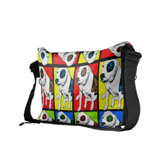 Pop Art Pit Bull Messenger Bags