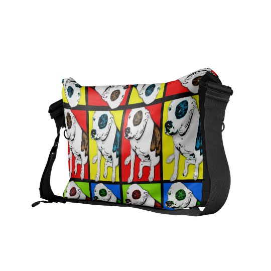 Pop Art Pit Bull Messenger Bags