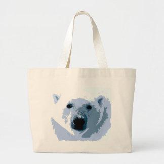 Pop Art Polar Bear Large Tote Bag