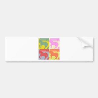 Pop Art Pony Bumper Sticker