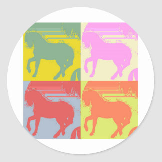 Pop Art Pony Round Sticker