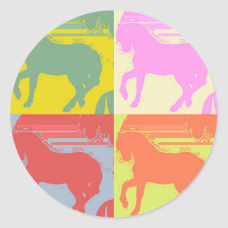 Pop Art Pony Round Sticker