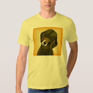 Pop Art Poodle in Olive Green and Yellow Tshirt