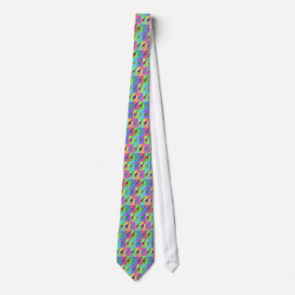 Pop Art Popart Walking Giraffe Multi-Color Tie
