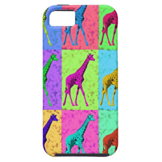 Pop Art Popart Walking Giraffe Multi-Color Tough iPhone 5 Case