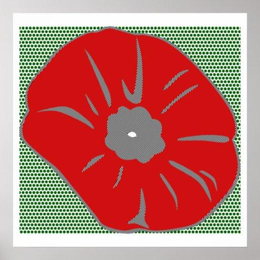 Pop Art poppy style Roy Lichtenstein Poster
