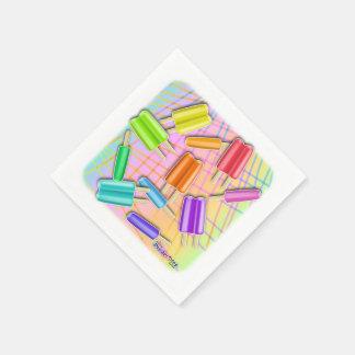 POP ART POPSICLES DISPOSABLE NAPKIN
