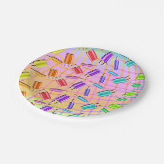 POP ART POPSICLES PAPER PLATE