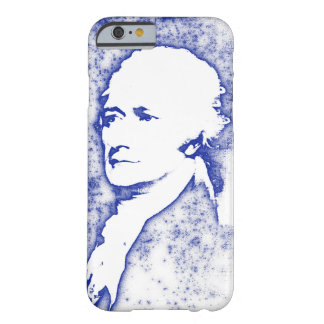 Pop Art Portrait Alexander Hamilton in Blue Barely There iPhone 6 Case