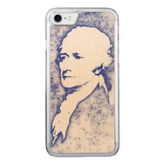 Pop Art Portrait Alexander Hamilton in Blue Carved iPhone 7 Case