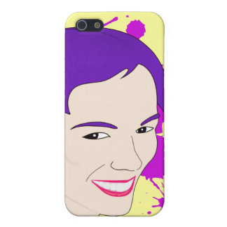 Pop Art Portrait of a Purple Haired Girl iPhone 5/5S Cases