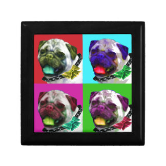 Pop Art Pug Small Square Gift Box
