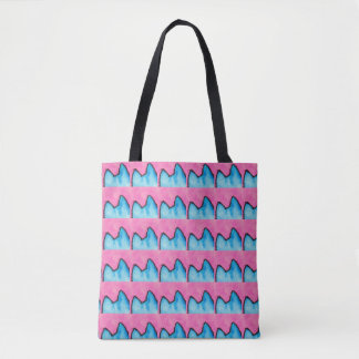 Pop Art PussyCat Allover Print Pink Tote