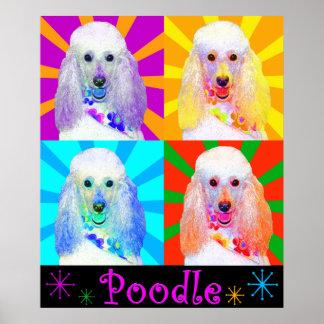 Pop Art Quad Miniature Poodle Poster