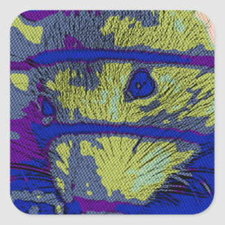 Pop Art Rat Square Sticker
