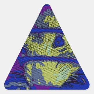 Pop Art Rat Triangle Sticker