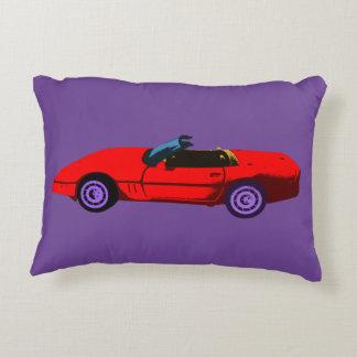 Pop Art Red Corvette Decorative Cushion