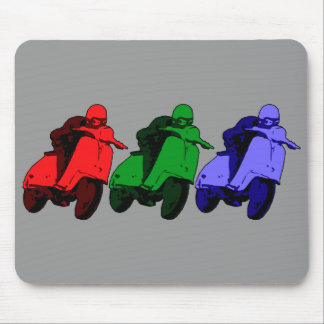 Pop Art RGB Scooter racer Mouse Mat