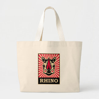 Pop Art Rhinoceros Large Tote Bag