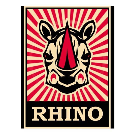 Pop Art Rhinoceros Postcard