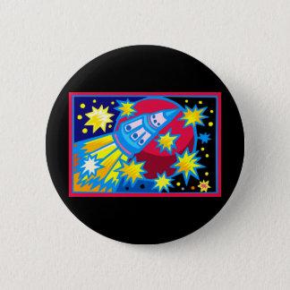 Pop Art Rocket 6 Cm Round Badge