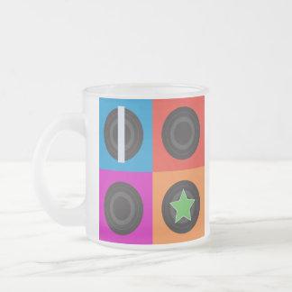 Pop Art Roller Derby Symbols Frosted Glass Mug