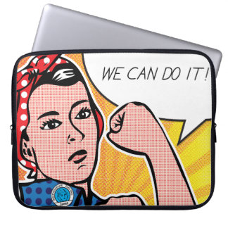 Pop Art Rosie the Riveter Roy Lichtenstein Laptop Sleeve