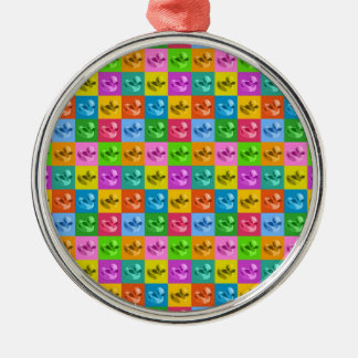 pop art rubber ducks christmas ornament