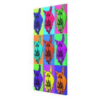 Pop Art Running Dachshund Ears Flapping Canvas Print