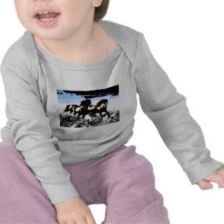 Pop Art Running Horses Tee Shirt