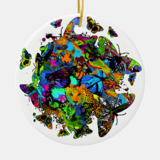Pop Art Safari Circle Ornament