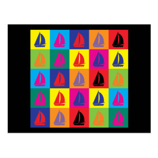 Pop Art Sailing Postcard