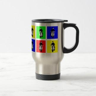 Pop Art Scooter Boy 15 Oz Stainless Steel Travel Mug