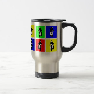 Pop Art Scooter Boy Travel Mug